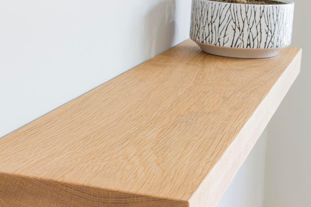 Wandplank Hout Zwevend.Zwevende Eiken Wandplank 20 Cm Diep Wandplanken En